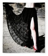 Ameynra Gothic Fashion By Sofia Metal Queen. Lace Skirt 168 Fleece Blanket