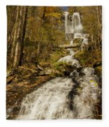 Amicola Falls Gushing Fleece Blanket