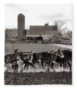 Amish Agriculture  Fleece Blanket