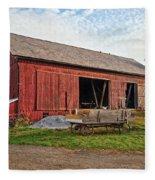 Amish Barn At Sunrise Fleece Blanket