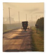 Amish Buggy And Corn Over Your Head Fleece Blanket
