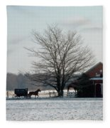 Amish Buggy And Old School Fleece Blanket
