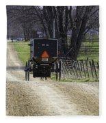 Amish Buggy March 2016 Fleece Blanket