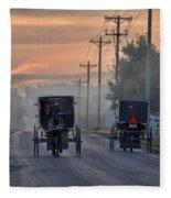 Amish Buggy Sunday Morning Fleece Blanket