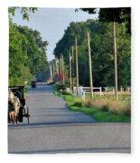 Amish Buggy Sunny Summer Fleece Blanket