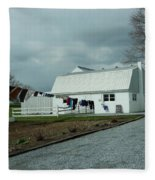 Amish Clothesline And A Barn Fleece Blanket
