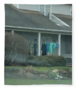 Amish Clothing Hanging To Dry Fleece Blanket