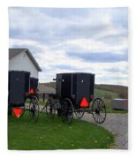 Amish Country Carts Autumn Fleece Blanket