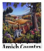 Amish Country - Coon Gap Holler Country Farm Landscape Fleece Blanket