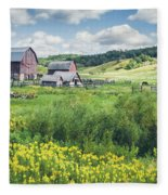 Amish Country Farm Warrens Fleece Blanket