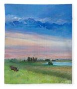 Amish Farm  Fleece Blanket