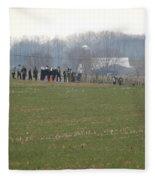 Amish Friends Gather Fleece Blanket