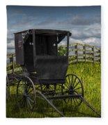 Amish Horse Buggy Fleece Blanket