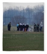 Amish Teens At An Easter Monday Gathering Fleece Blanket