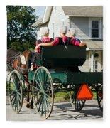 Amish Women Fleece Blanket