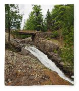 Amity Creek Falls Fleece Blanket