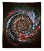 Ammonite Galaxy Fleece Blanket