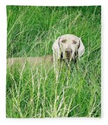 Among The Grasses Fleece Blanket