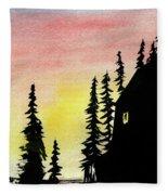 Among The Pines Fleece Blanket