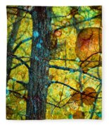 Amongst The Branches Fleece Blanket