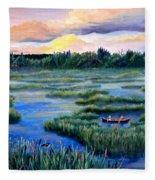 Amongst The Reeds Fleece Blanket