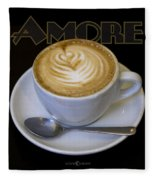 Amore Poster Fleece Blanket