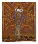 Amos Books Of The Bible Series Old Testament Minimal Poster Art Number 30 Fleece Blanket