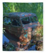 Amphibious Vehicle Fleece Blanket