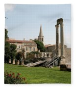 Amphitheater Ruins - Arles - France Fleece Blanket
