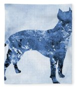 Amstaff-blue Fleece Blanket