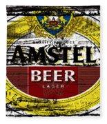 Amstel Beer Sign  Fleece Blanket