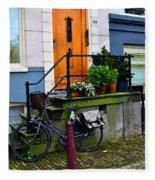 Amsterdam Door Fleece Blanket