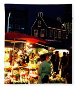 Amsterdam Flower Market Fleece Blanket