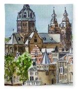 Amsterdam Holland Fleece Blanket