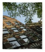 Amsterdam Spring - Fancy Brickwork Glow - Left Horizontal Fleece Blanket