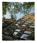 Amsterdam Spring - Fancy Brickwork Glow - Right Horizontal Fleece Blanket