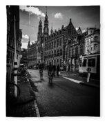 Amsterdam Street Fleece Blanket