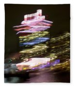 Amsterdam The Netherlands A'dam Tower Abstract At Night. Fleece Blanket