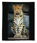 Amur Lepard I Hear Something Fleece Blanket