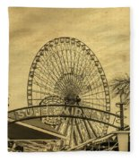 Amusement Park Vintage Fleece Blanket