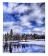 An Adirondack Winter Fleece Blanket