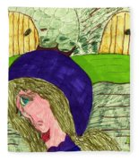 An Afternoon Walk Fleece Blanket