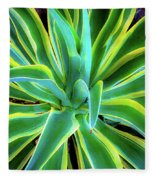 An Agave In Color  Fleece Blanket