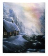 An Alaskan Night Fleece Blanket