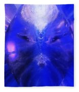 An Alien Visage  Fleece Blanket