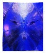 An Alien Visage  Fleece Blanket