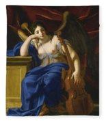 An Allegory Of Poetry Fleece Blanket