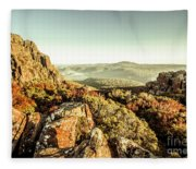 An Alpine Morning Fleece Blanket