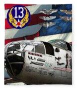 An American B-25c Pof Fleece Blanket