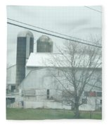An Amish Barn In April Fleece Blanket